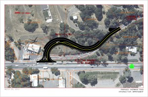 Proposed Sherwood Road Intersection Improvement.  This design is subject to change as the project progresses.